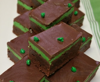 Peppermint Brownie / Creme De Menthe Brownie  – Wicked Wednesday