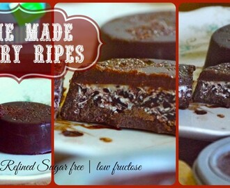 Home Made Cherry Ripe Bars: dairy free/refined sugar free