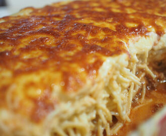 spaghetti pie (cook + freeze)
