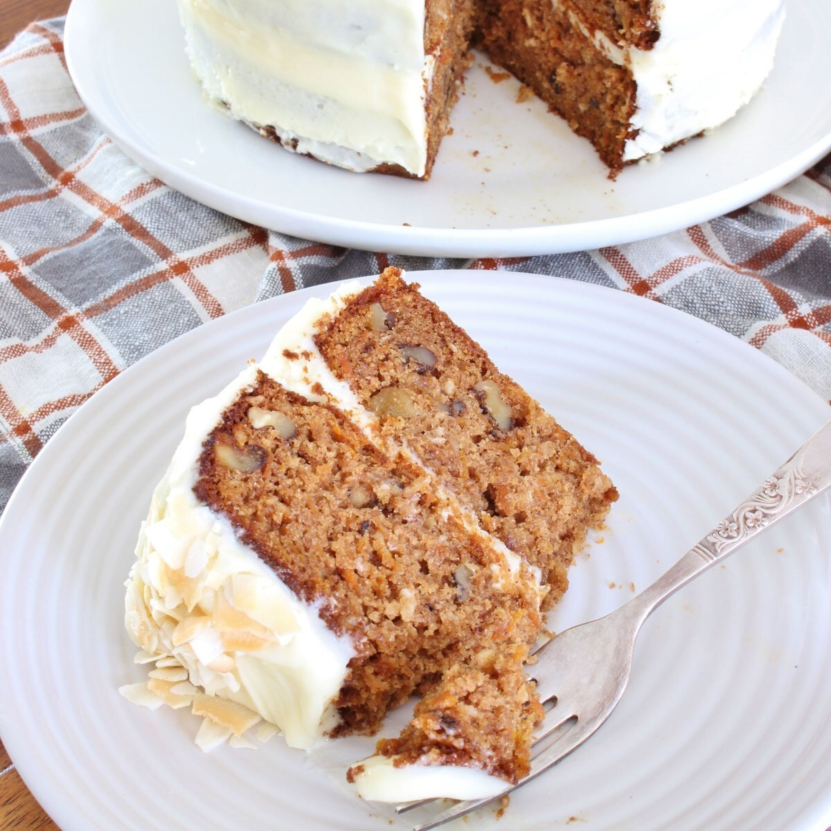 Carrot Cake with Cream Cheese Frosting | gluten free