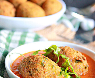 Choliya Kofta Curry, Fresh Green Chickpeas Dumplings In Tomato Gravy