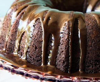 Chocolate Bundt Cake with Pumpkin Cheesecake Swirl