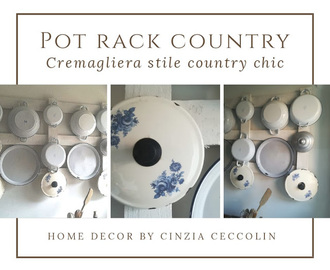 Pot rack country style / Cremagliera in stile country chic