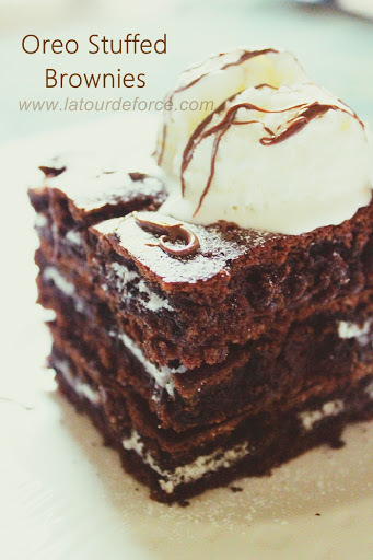 Oreo Stuffed Brownies : Guest Post from Aiza of La Tour De Force