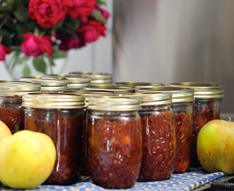 When life gives you apples, make Apple ~ Tart Cherry Chutney....