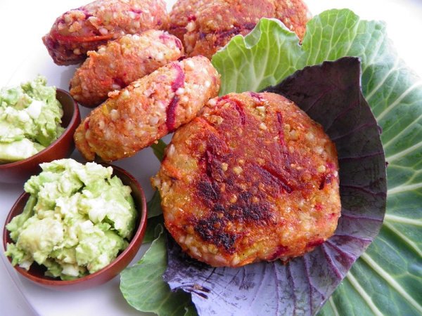 SWEETPOTATO BUCKWHEAT BURGERS