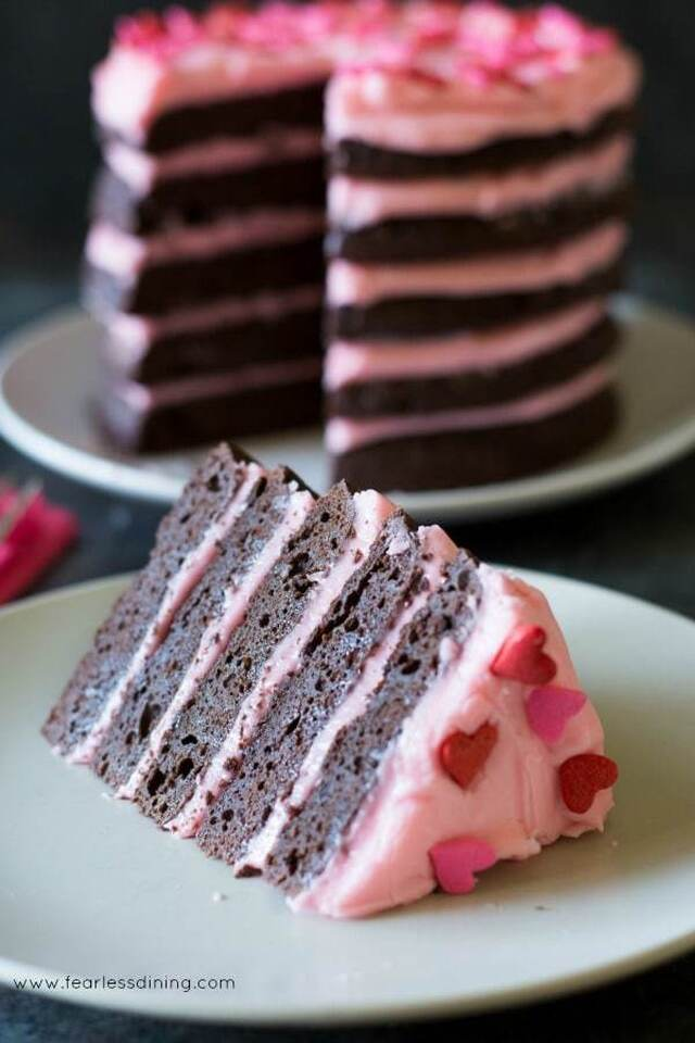 Gluten Free Chocolate Layer Cake with Cream Cheese Frosting