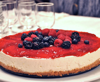 I had been dreaming of this... { no-bake very berry cheesecake }