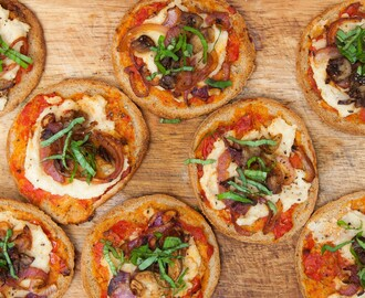 mini pizzas veganas