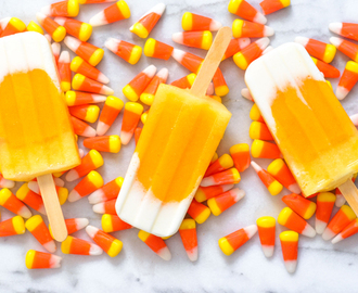 Candy Corn Ice Pops