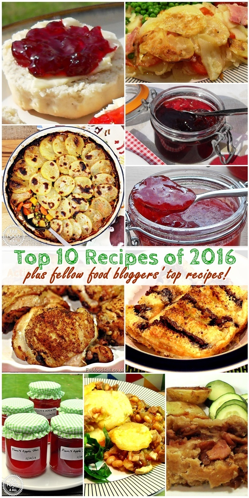 Top 10 Recipes of 2016 plus fellow food bloggers' top recipes!
