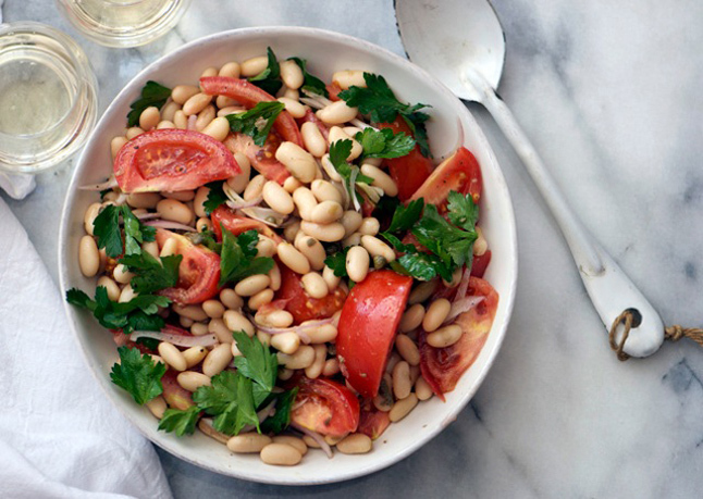Tomato and White Bean Salad with Capers