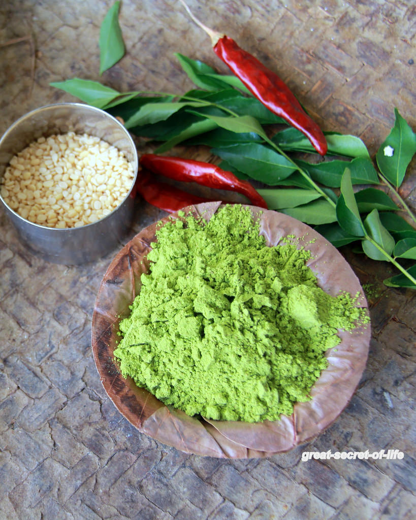 Curry leaves powder recipe - How to make curry leaf powder step by step recipe - Podi recipes - Powder recipes
