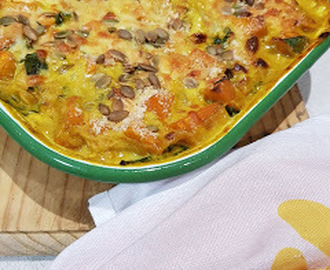 Baked Vegetarian Curried Pumpkin Gratin