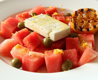 Watermelon & Feta Salad with Preserved Lemon Dressing