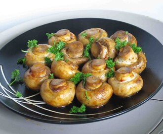 Marinated Mushrooms with Basil and Ginger