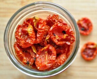 Home Made Sun-dried Tomatoes in Olive Oil