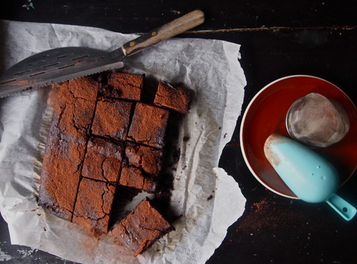 Red bean espresso brownie. Gluten & Dairy Free.
