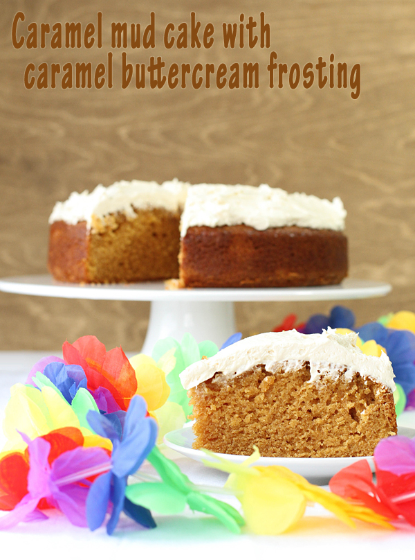 Caramel mud cake with caramel buttercream frosting