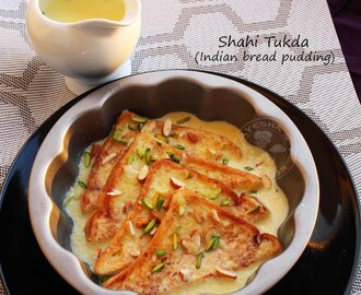SHAHI TUKDA - QUICK INDIAN  BREAD PUDDING RECIPE