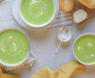 15 Minute Pea and Ham Soup