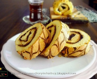 Roll Cake with nutella filling / Bolu gulung irit telur