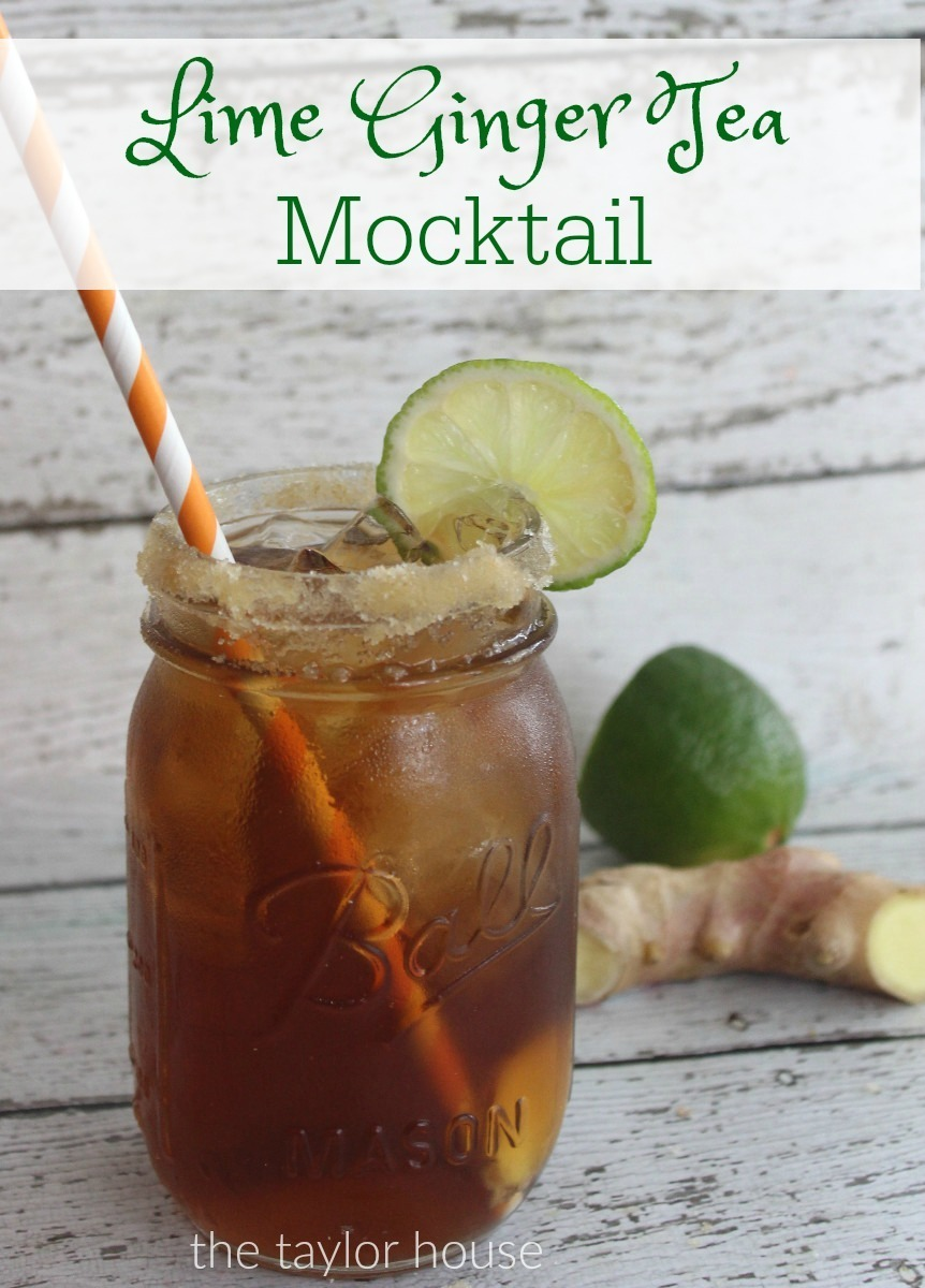 Ginger Lime Tea Mocktail