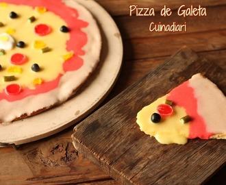PIZZA DE GALETA DECORADA