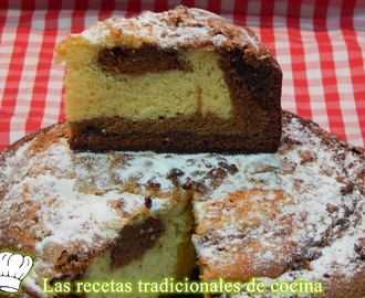 Bizcocho de tres chocolates, Receta simple