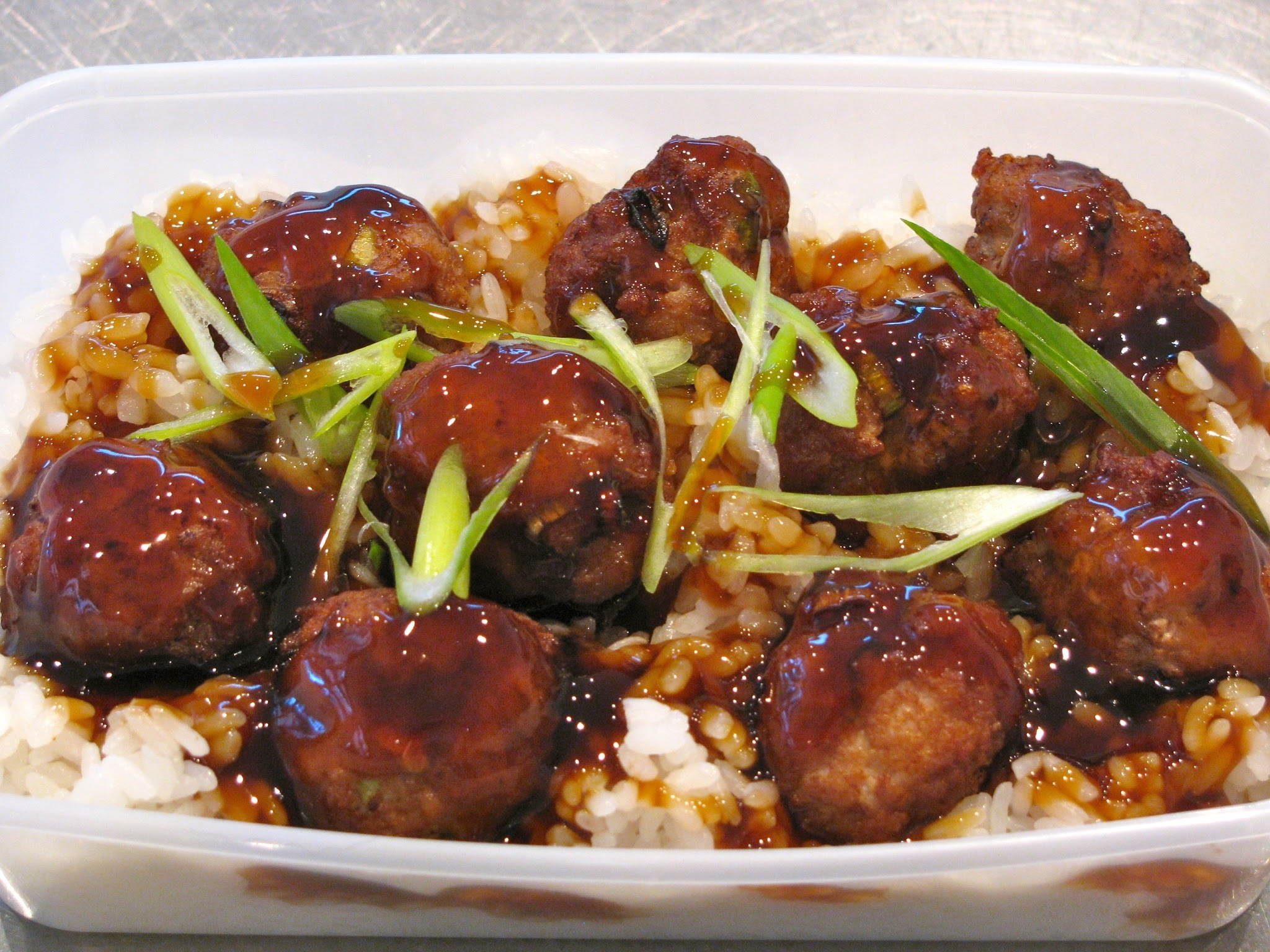 Finn's Lunch - Pork balls with sticky rice