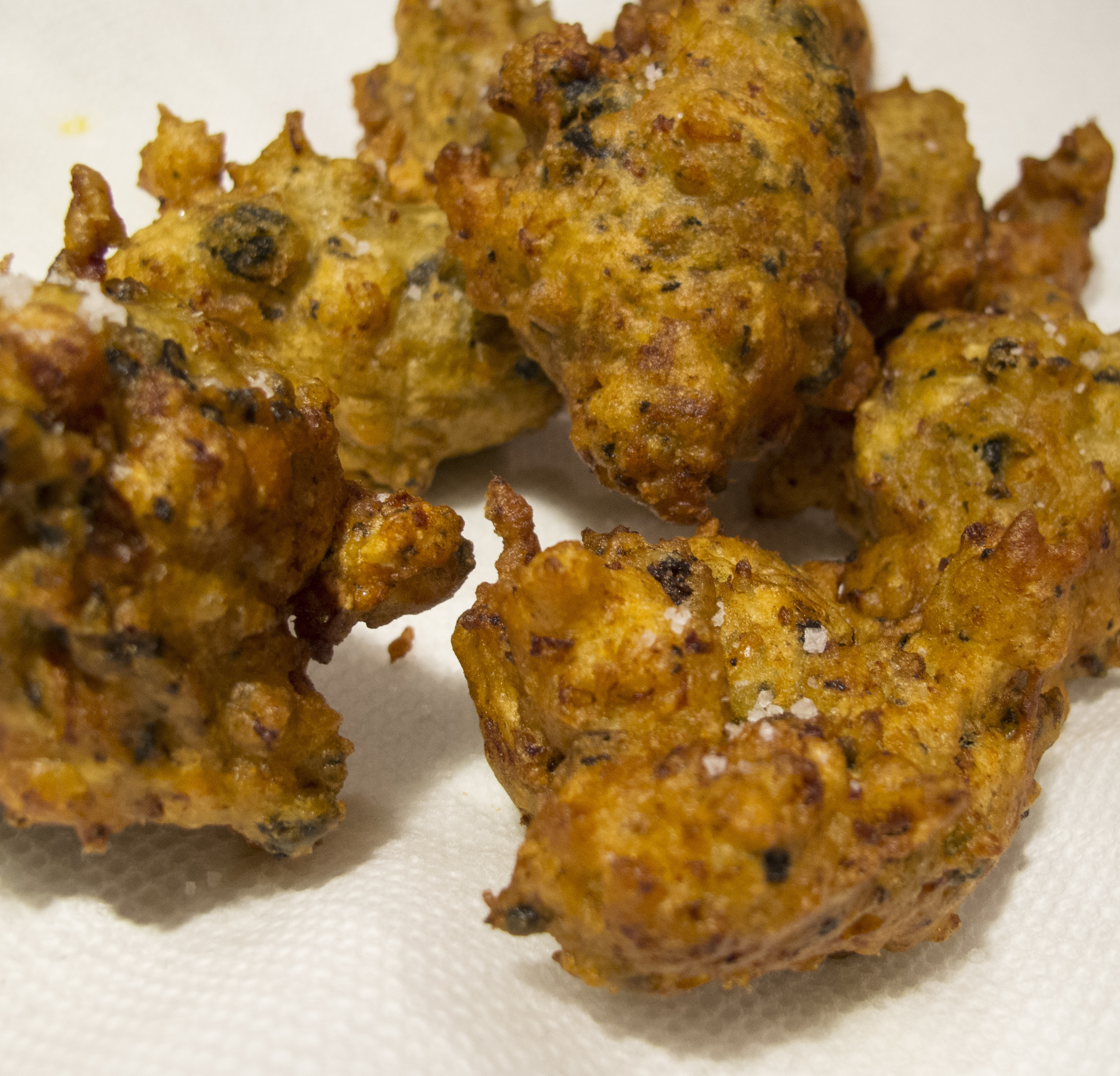 AWESOME MUSSEL FRITTERS