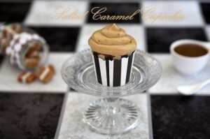 Salted Caramel Cupcakes -The Bomb!