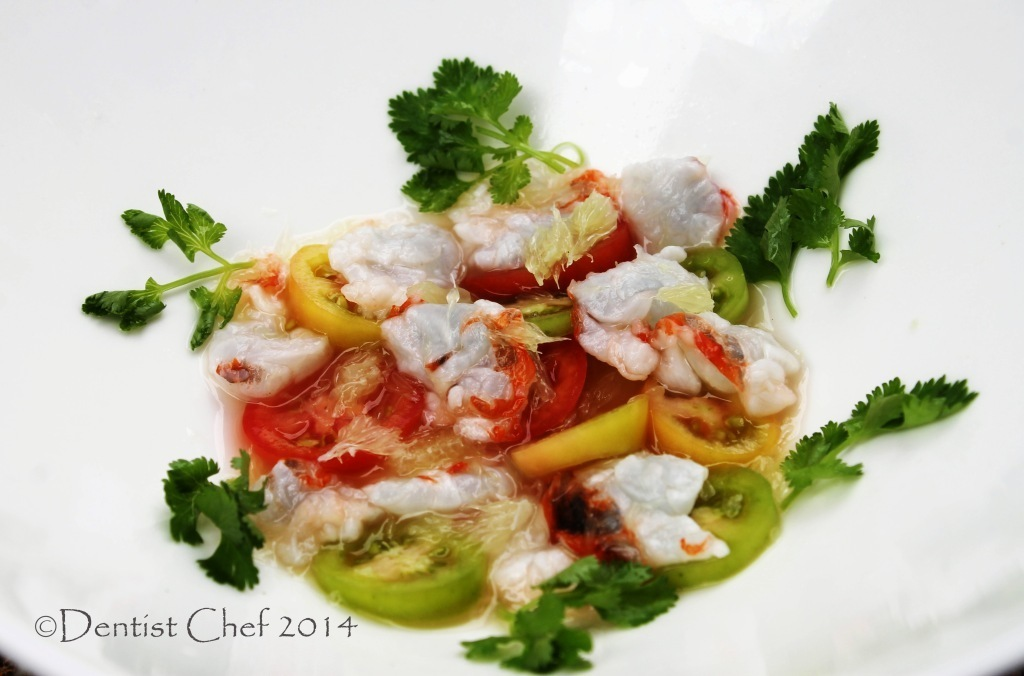 Lobster Ceviche Recipe with Cherry Tomatoes and Kaffir Limes