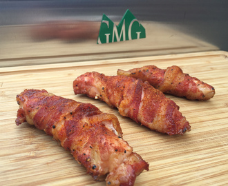 Bacon Wrapped Pig Wings à la Ray Lampe op de Green Mountain Pellet BBQ