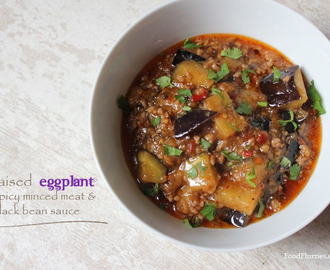 Braised Eggplant in Spicy Mince Meat & Black Bean Sauce