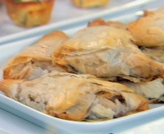Apple Cranberry Phyllo Turnovers