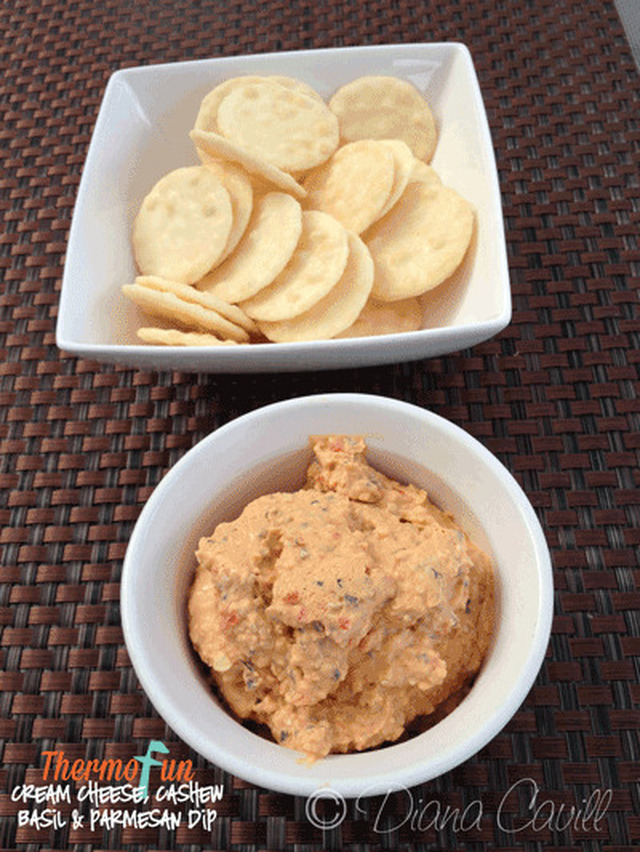 ThermoFun – Cream Cheese With Cashew, Basil & Parmesan Dip Recipe