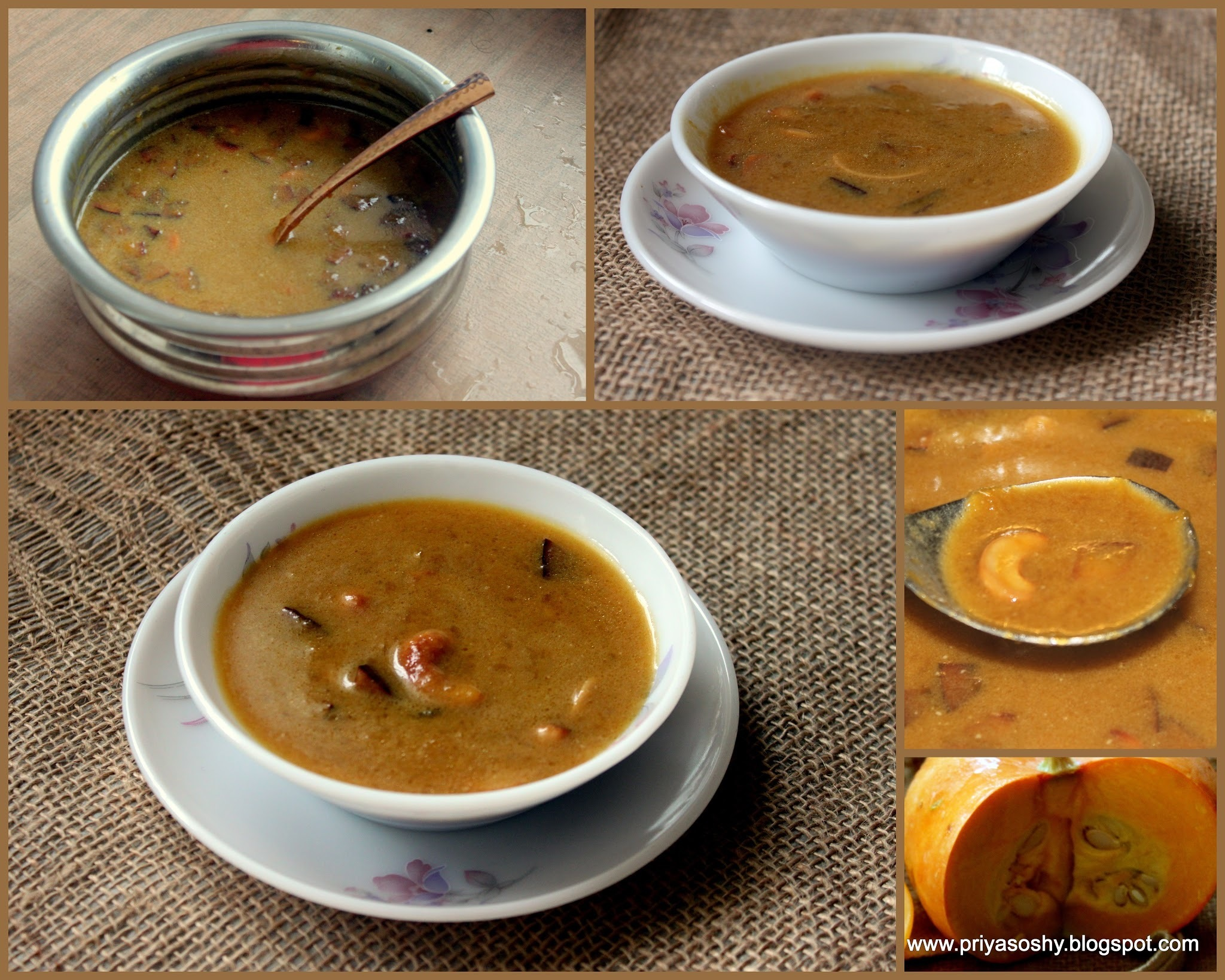 Disco pumpkin payasam with maggie coconut milk powder