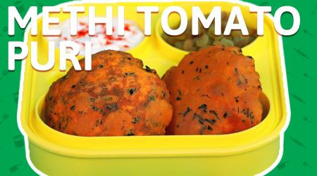 Methi and tomato Puris recipe