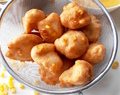Akara balls with sweetcorn