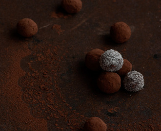 Trufas de chocolate con curry y chile