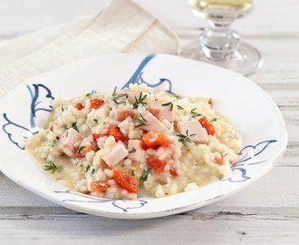 Smoked Chicken and Red Pepper Risotto
