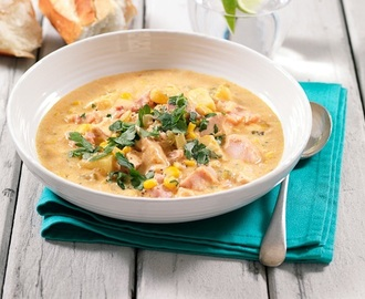 Hearty Smoked Chicken Corn Chowder
