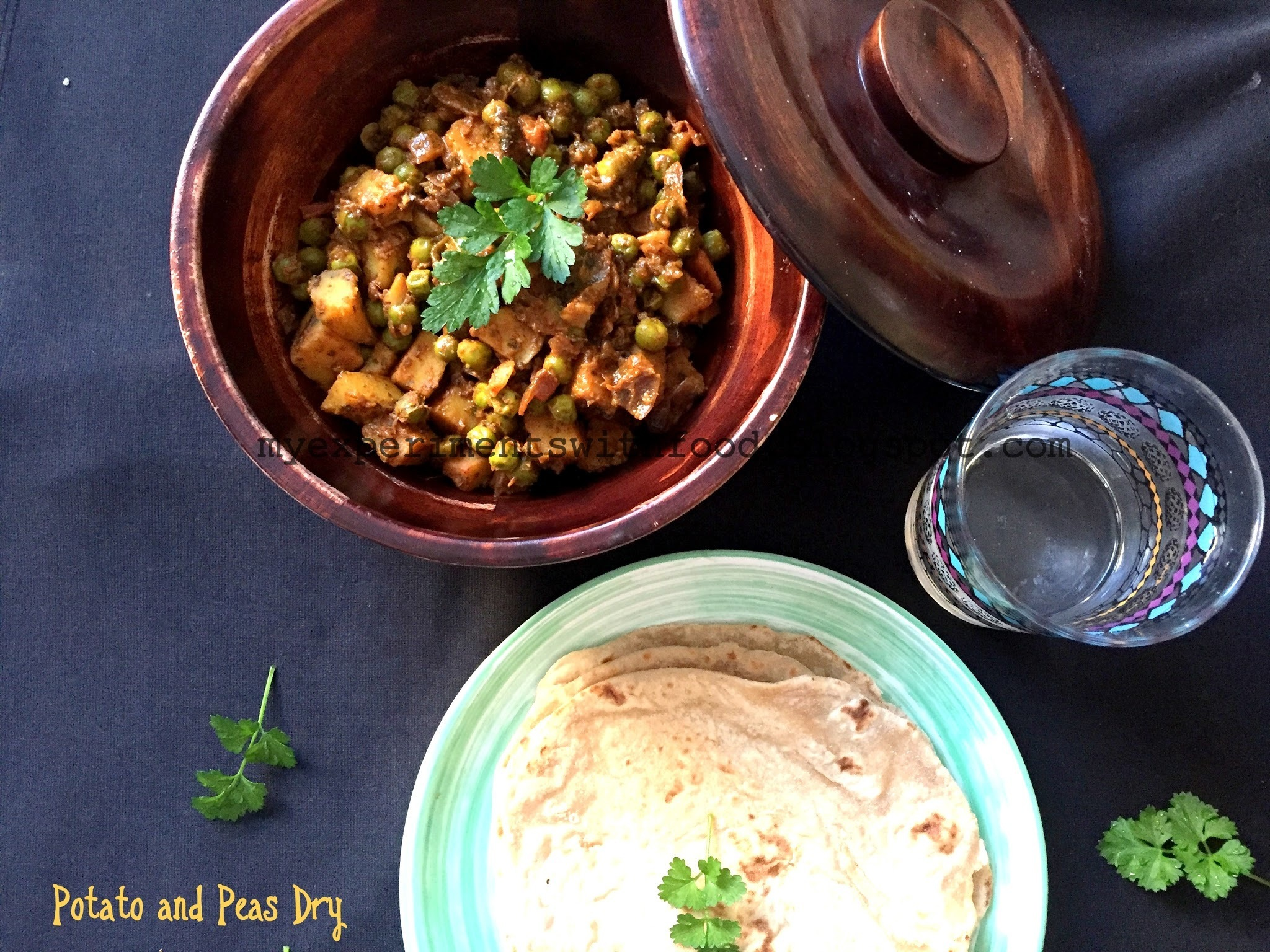 Easy Potato and Peas Dry curry/ Easy Aloo Matar For Chapatis
