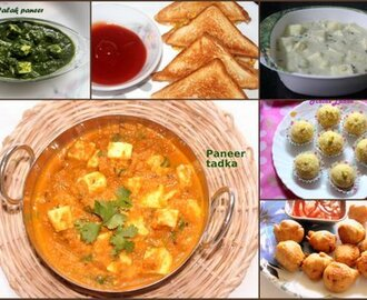 Collection of 27 paneer recipes – Easy Indian paneer recipes