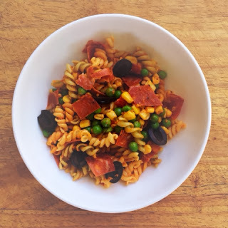 Review + Giveaway: D'Orsogna Spicy Chorizo Rainbow Pasta Salad
