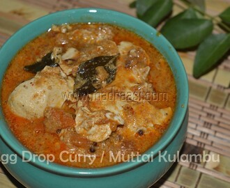 Egg Drop Curry / Udaichivitta Muttai Kulambu
