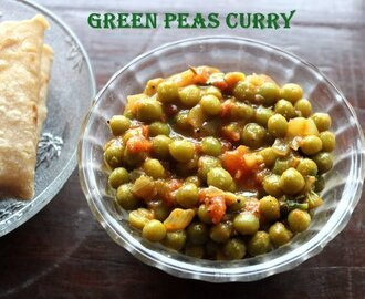 Green peas subzi recipe – How to make dried green peas sabzi recipe – side dish for rotis