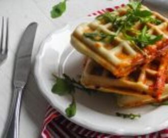 pizza waffles: perfect new year's eve party food