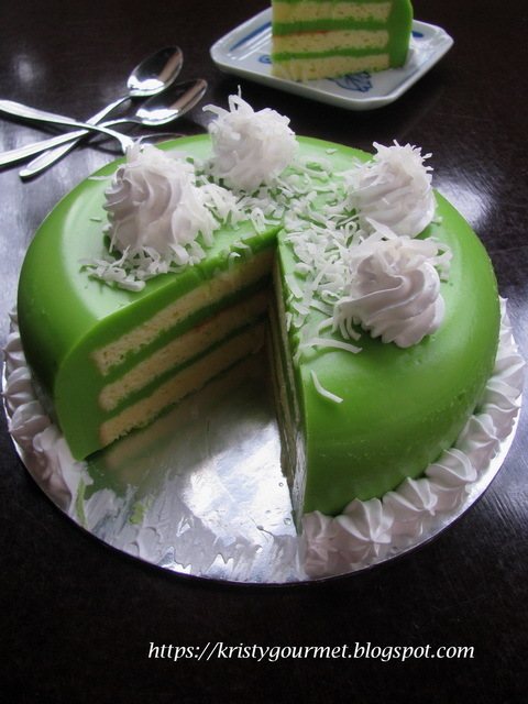Pandan Custard Layer Cake 香兰千层蛋糕